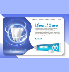 dental care landing page website template vector image