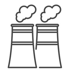 eco factory icon outline style vector image