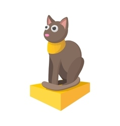 Egyptian cat icon cartoon style vector