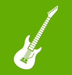 Electric guitar icon green vector
