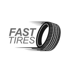 fast tires in black color logo concept design vector image