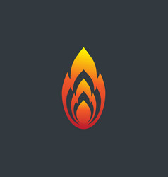 fire flame logo design template silhouette vector image