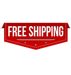 Free shipping banner design vector