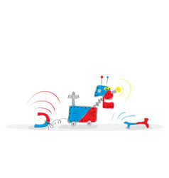 funny quirks of magnetism vector image