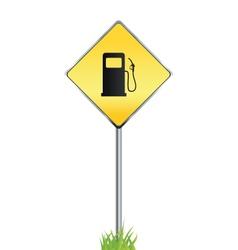 Gas station warning sign vector image