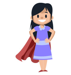 girl with red cape on white background vector image