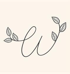 handwritten letter w monogram or logo brand vector image