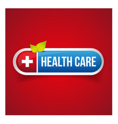 Health Care button vector image