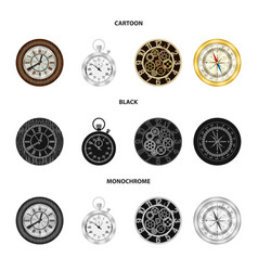 Isolated object of clock and time symbol vector