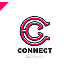 letter c logo icon design template elements vector image