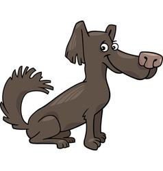 little shaggy dog cartoon vector image