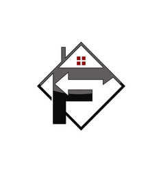 logo f arrow property vector image