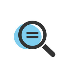 magnifying glass looking for equality isolated vector image