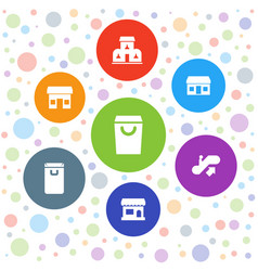 Mall icons vector