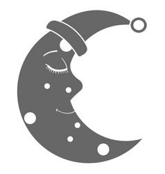 moon night with sleeping hat character vector image