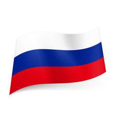 national flag of russian federation white blue vector image