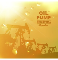 Oil pump jack silhouette design vector