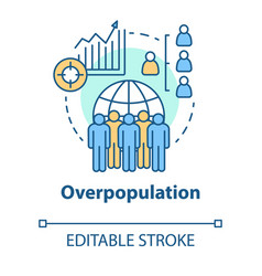 Overpopulation concept icon planet overcrowding vector