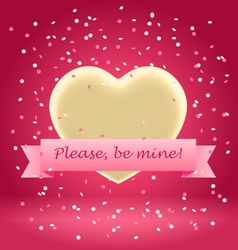 please be mine vector image