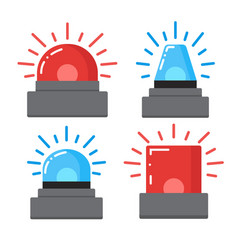 red and blue flashing emergency vector image