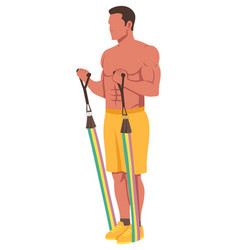 resistance band fitness training vector image