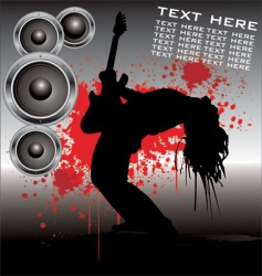 rock star guitar vector image