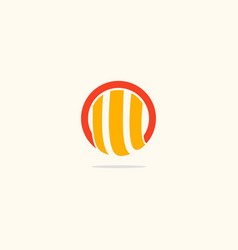 Round abstract shape line logo vector