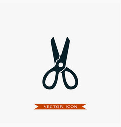 Scissors icon simple barbershop vector