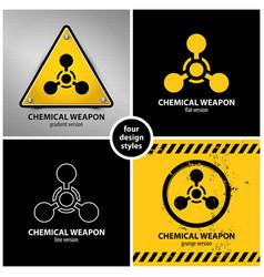 set chemical weapon symbols vector image