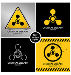 set of chemical weapon symbols vector image