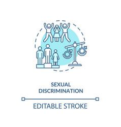 Sexual discrimination concept icon vector