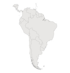 South america contour map countries and islands vector