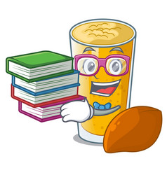 Student with book lassi mango in the character vector