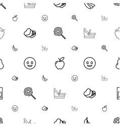 sweet icons pattern seamless white background vector image