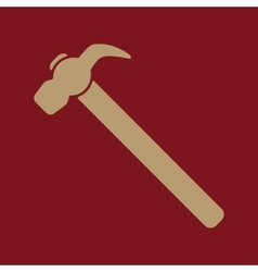 The hammer icon Hammer symbol Flat vector