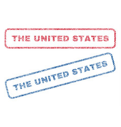 the united states textile stamps vector image