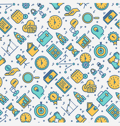 time management seamless pattern vector image