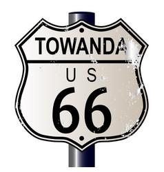 Towanda route 66 sign vector