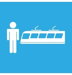 train transportation icon vector image