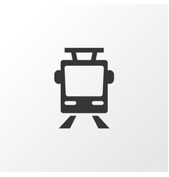 tram icon symbol premium quality isolated vector image