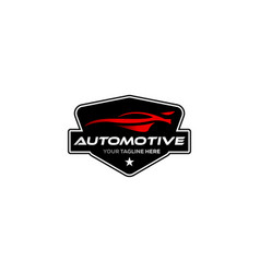 Vintage classic automotive logo designs with the vector