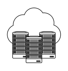 Web hosting server banner icon vector