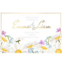 wedding marriage event invitation card template vector image