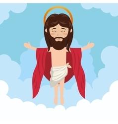 cartoon jesus christ ascension design vector image