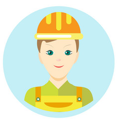 Icon man builder in a flat style image on vector