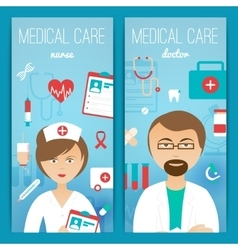 Medical doctor banners poster vector image vector image