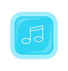 Musical note icon in flat style design vector