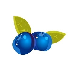 Bilberry Flat Sticker vector image