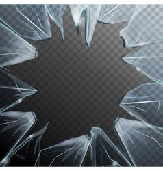 Broken glass frame vector