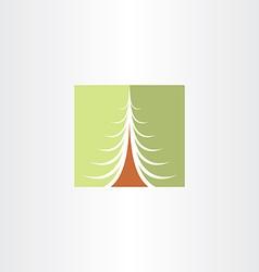 christmas tree green design element vector image